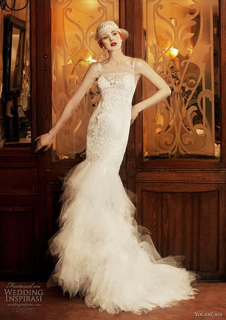 Vintage wedding dresses 1920s for Vintage mermaid style wedding dresses