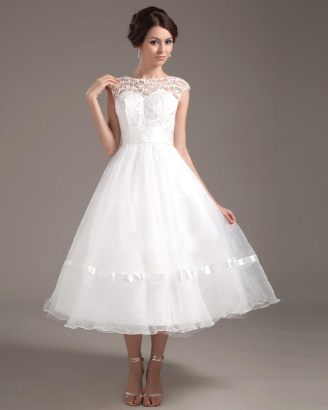 Vintage Wedding Dresses Tea Length