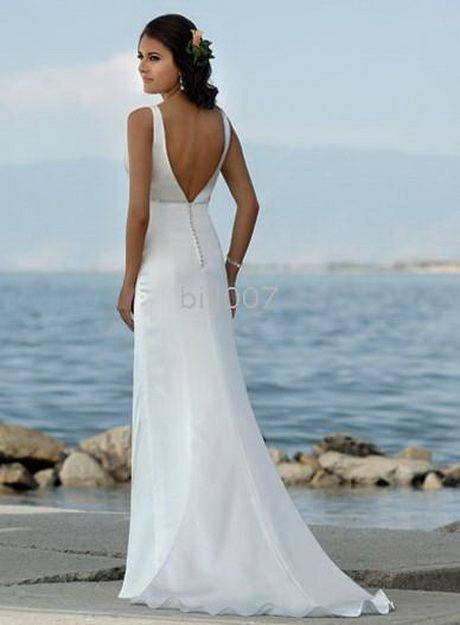 Halter Beach Wedding Dress