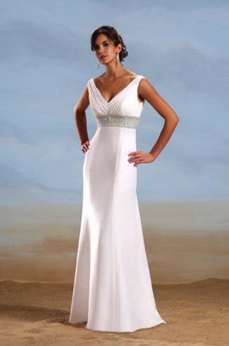 Wedding dresses for beach ceremony for Wedding dress casual style