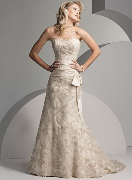Wedding gowns for mature brides for Older brides wedding dresses