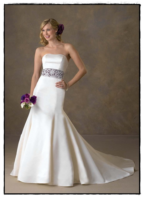 Wedding Gowns With Color Accents