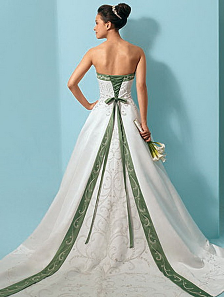 Wedding Dresses With Little Color : Wedding gowns with color