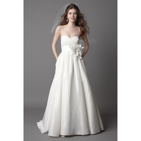 strapless classy wedding dresses with pockets hihsar136