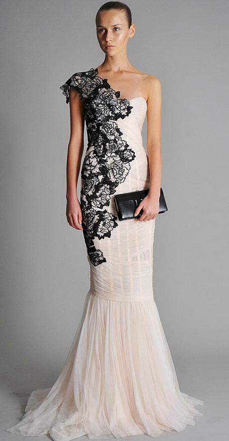 White and black lace dress for Black and white lace wedding dresses