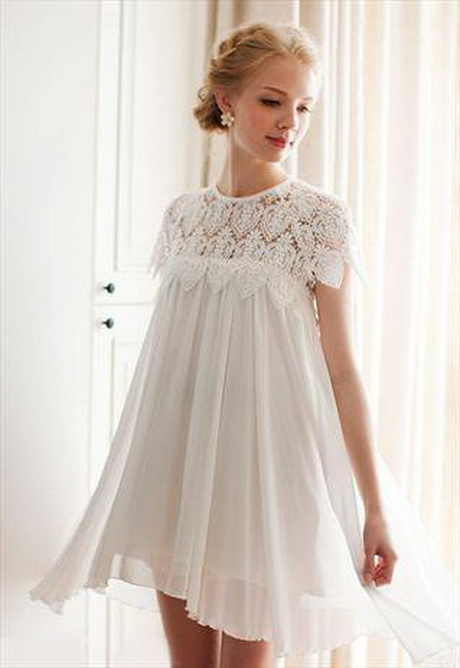 White babydoll dress for Baby doll style wedding dress