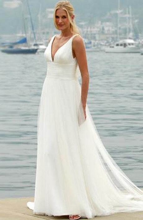 White Beach Wedding Dress