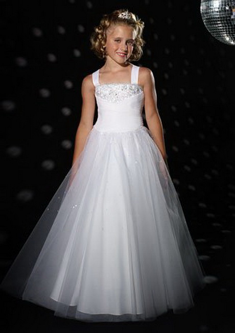 white bridesmaid dresses for children