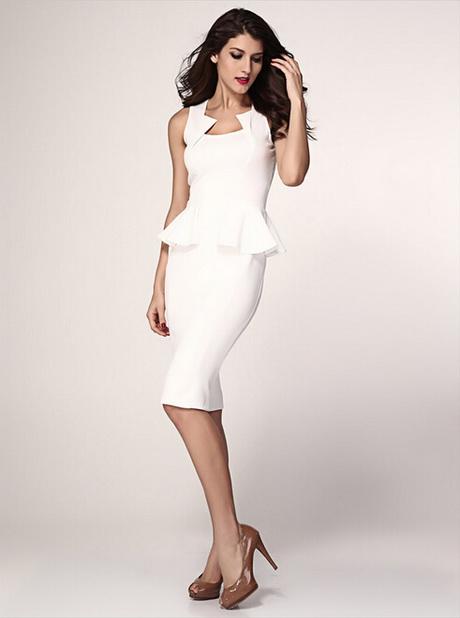 White Business Dress