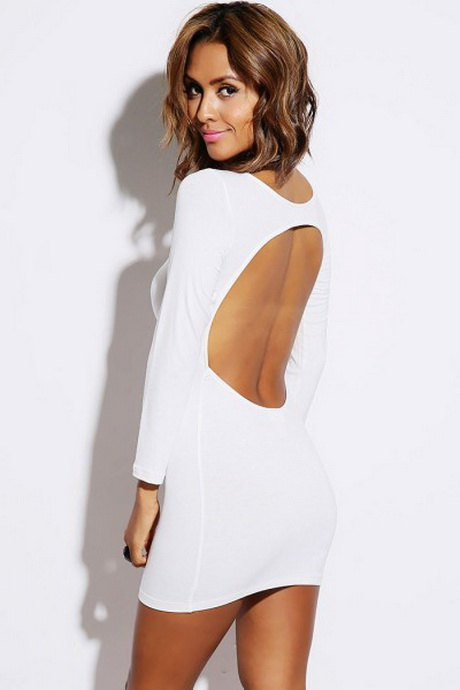 White Fitted Dresses