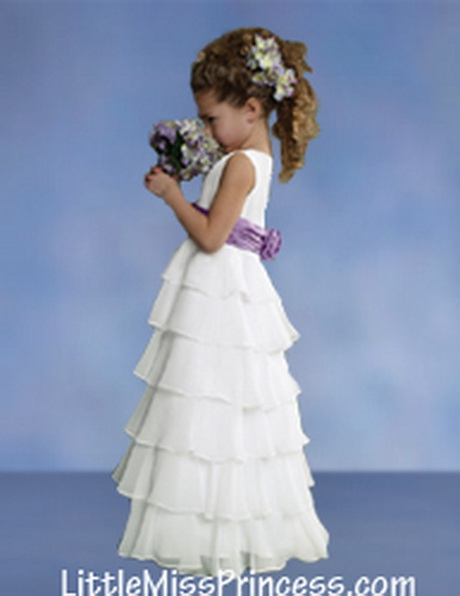 Flower Girl Dresses In Soft White 109