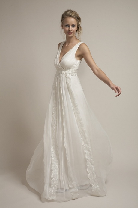 flowy white empire long floor length empire chiffon evening dress
