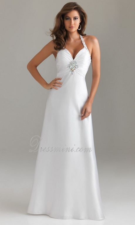 White Long Graduation Dresses 35