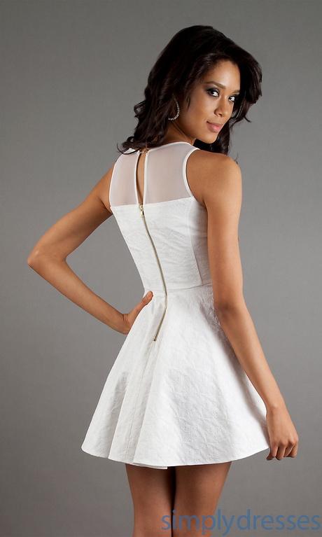 Cheap White Graduation Dresses Short 86