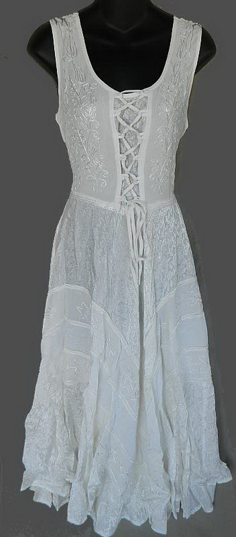 White Gypsy Dress