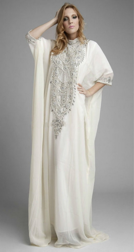 White Kaftan Dress