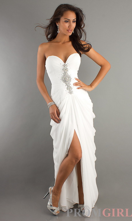 White Long Graduation Dresses 80