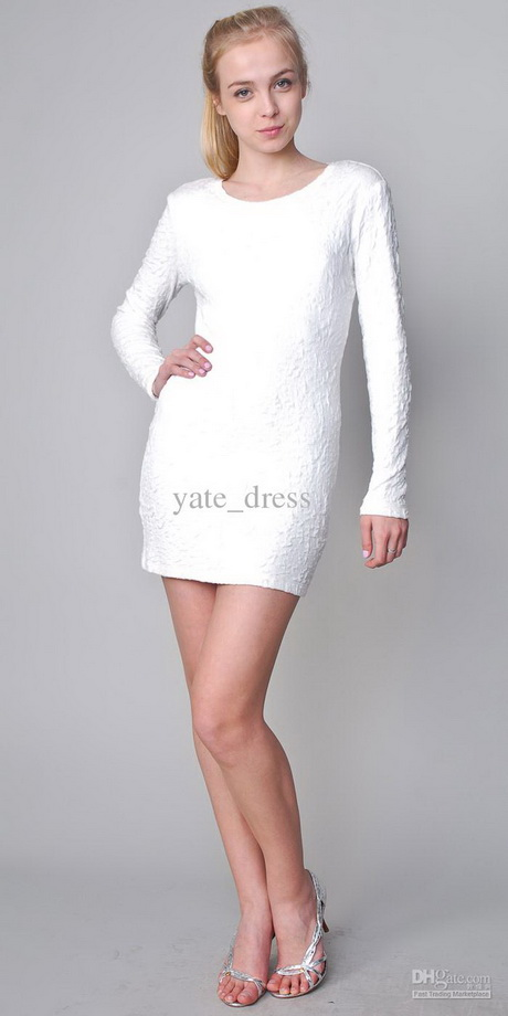 White Long Graduation Dresses 77