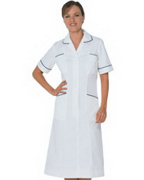 White Nurse Uniform Dress 79