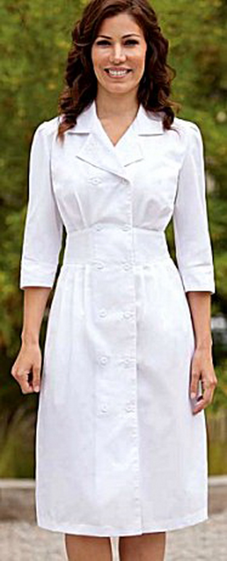 White Professional Nursing Uniform 82