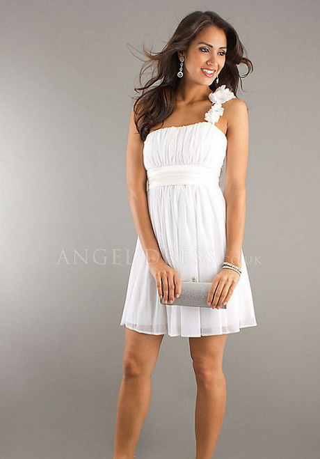 white one shoulder cocktail dresses