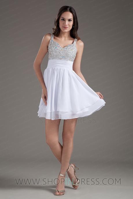 Cheap White Graduation Dresses Short 34