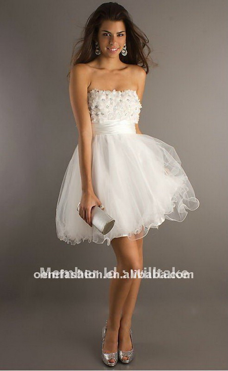 White short party dresses