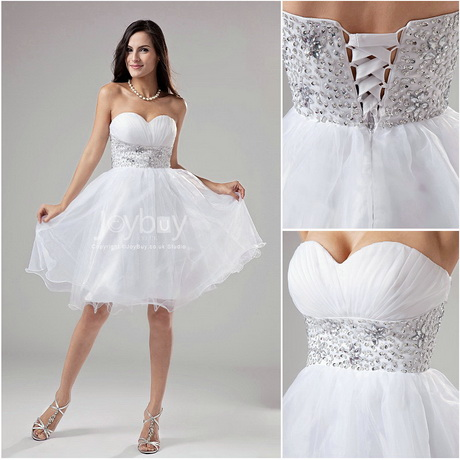 Short Party Dresses White 54