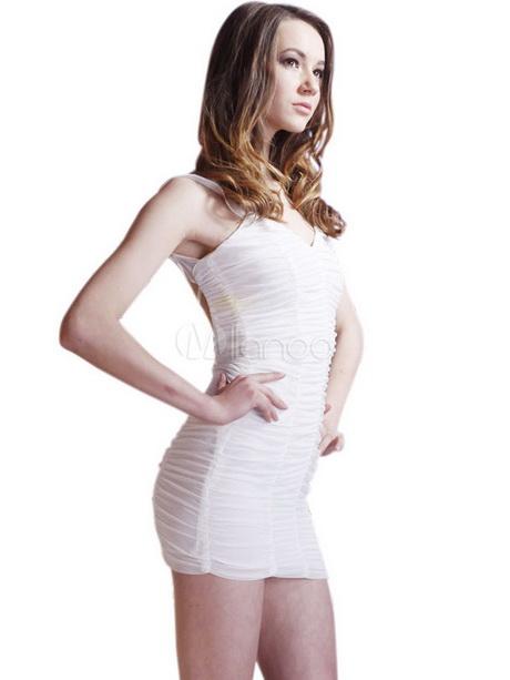 White Spandex Dress