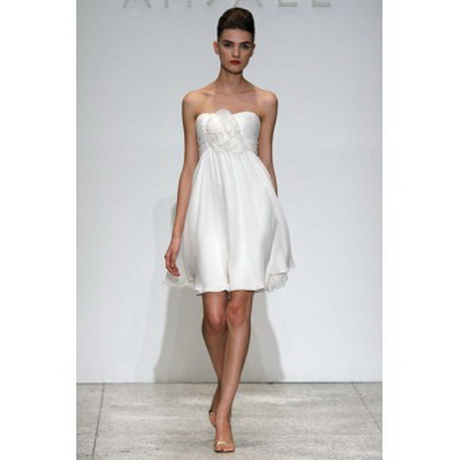 White strapless summer dress for Short white summer wedding dresses