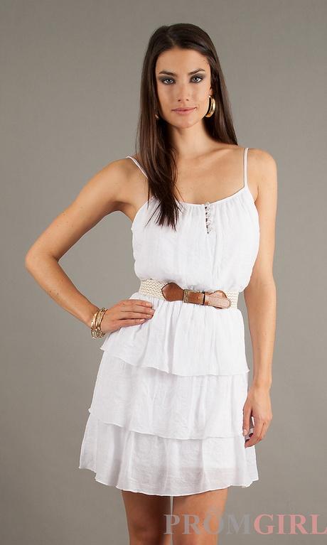 White strapless summer dress - photo#38
