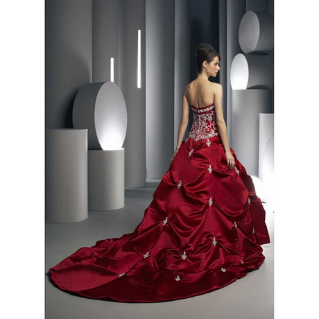 White and red wedding dresses for Red and white wedding dress