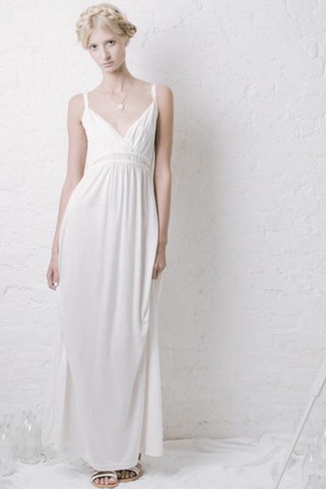 White Jersey Maxi Dresses