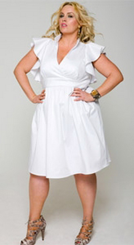 Plus Size White Party Dresses 39