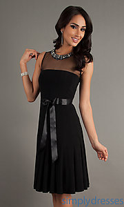 Buy Short Black Sleeveless Dress at SimplyDresses