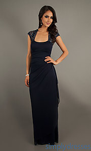 Buy Floor Length Dark Navy Formal Dress at SimplyDresses