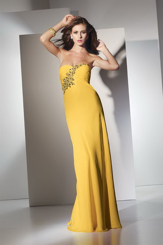 Used Yellow Prom Dresses 120
