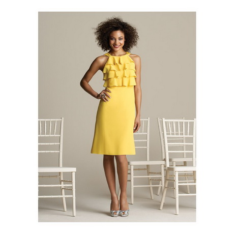 Yellow Summer Bridesmaid Dresses 26