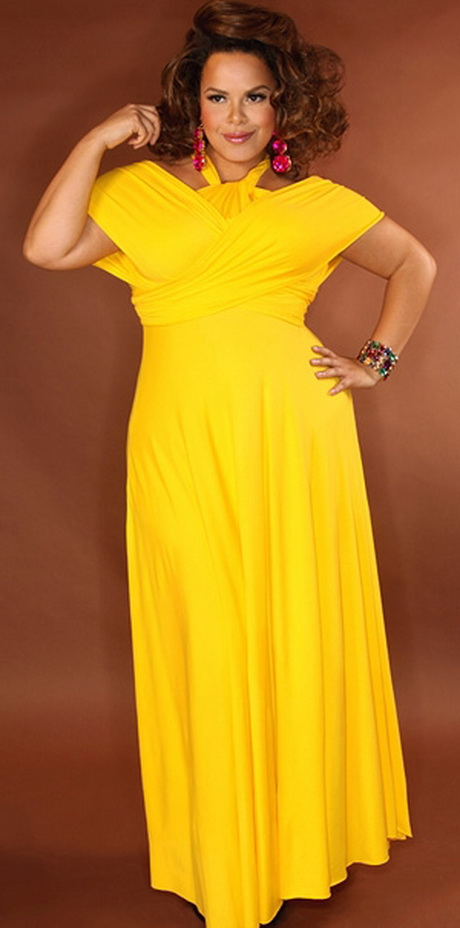 Yellow Plus Size Bridesmaid Dresses 62