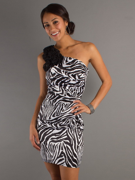 Zebra Homecoming Dresses 116