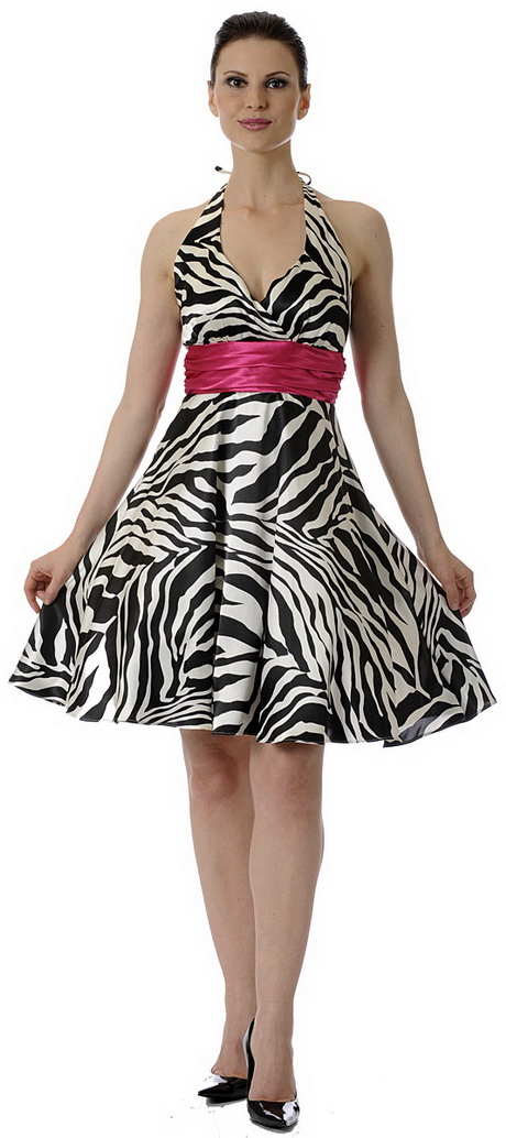 Zebra Print Dresses For Homecoming 7