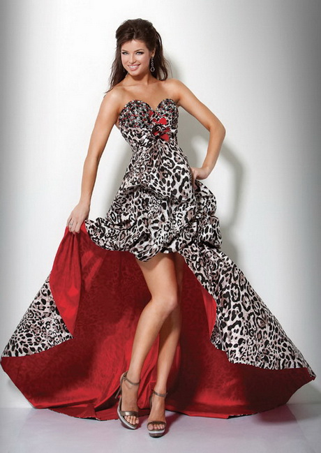 Zebra Short Prom Dresses 50
