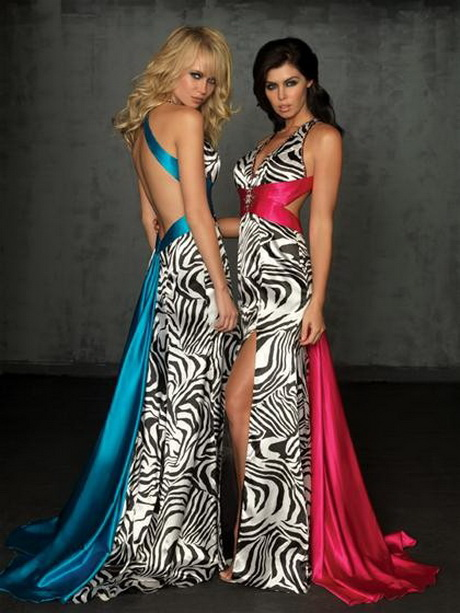 Zebra Print Dresses For Homecoming 14
