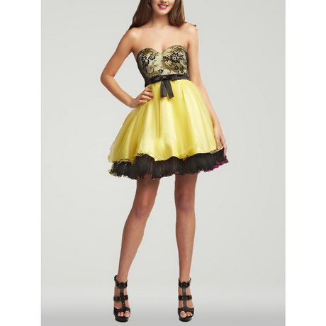 Black And Yellow Dress