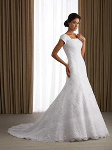 Modest wedding dress for Mormon temple wedding dresses