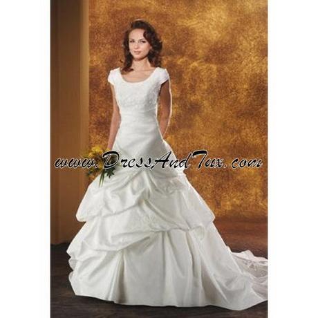 Pin lds temple ready wedding dress modest gowns cake on for Temple ready wedding dresses