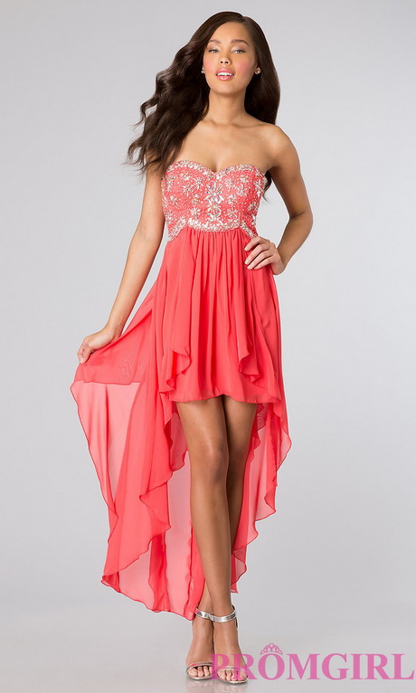 2015 Short Prom Dresses High Low Strapless Party Dress – 2015 ...
