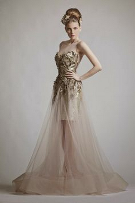 Wedding Dress Color Trends : Brides spring wedding dress trends trend new colors style