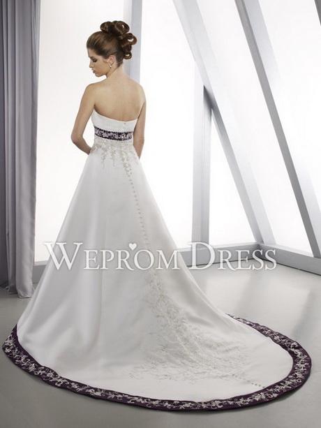 White And Purple Wedding Dress