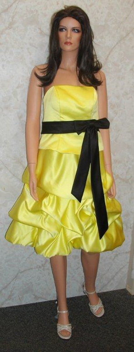 Yellow and black dress